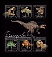 Azerbaïjan (KM) 2017 No. 25/30 Prehistoric Fauna. Dinosaurs (I) MNH ** - Azerbaïjan