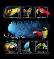 Azerbaïjan (KM) 2017 No. 49/54 Fauna. Birds. Parrots MNH ** - Azerbaïjan