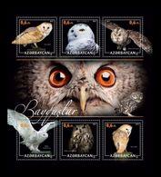 Azerbaïjan (KM) 2017 No. 55/60 Fauna. Birds. Owls MNH ** - Azerbaïjan