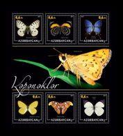 Azerbaïjan (KM) 2017 No. 61/66 Fauna. Butterflies MNH ** - Azerbaïjan