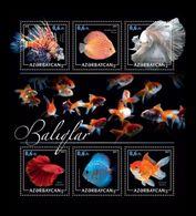 Azerbaïjan (KM) 2017 No. 67/72 Fauna. Fishes MNH ** - Azerbaïjan