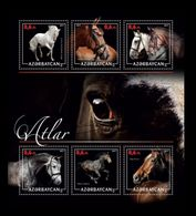 Azerbaïjan (KM) 2017 No. 73/78 Fauna. Horses MNH ** - Azerbaïjan