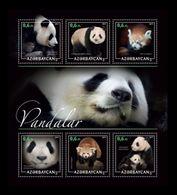 Azerbaïjan (KM) 2017 No. 79/84 Fauna. Pandas MNH ** - Azerbaïjan