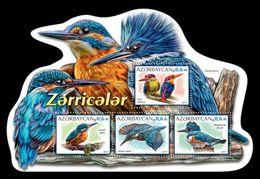 Azerbaïjan (KM) 2017 No. 97/100 Fauna. Birds. Kingfishers MNH ** - Azerbaïjan