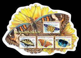Azerbaïjan (KM) 2017 No. 109/12 Fauna. Butterflies MNH ** - Azerbaïjan