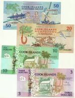Cook Island - Serie Da 3/5/10/50 Dollars, - Isole Cook