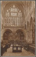 Choir Looking East, Exeter Cathedral, Devon, C.1920s - Judges RP Postcard - Exeter