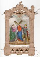 6e Station Du Chemin De Croix, Véronique Essuie Le Visage De Jésus, Gravure Colorisée éd. Bouasse-Lebel - Images Religieuses
