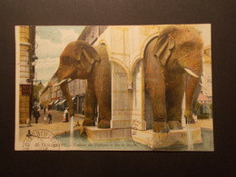Carte Postale - CHAMBERY (73) - Fontaine Des Elephants Et Rue De Boigne (2150) - Chambery