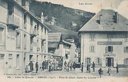 ABRIES - N° 380 - PLACE DU GLACIS DEPART DU COURRIER - Other Municipalities