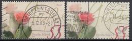 Germania 2003 Sc. 2227 E Sc. 2228 Fiori Flowers : Rose Germany Deutschland  Viaggiato Used - Rose
