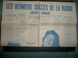 LES DERNIERS SUCCÈS DE LA RADIO 1959-60  Paroles De Chansons - Posters