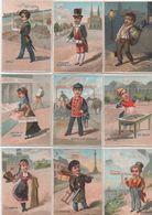 Chromo X 9 / Les Vieux Quartiers De PARIS/ Temple, Sentier, Montmartre-Mouffetard-Halles/ Vers 1880-1890   IMA424 - Autres
