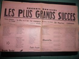 RECUEIL OFFICIEL - LES PLUS GRANDS SUCCÈS EN CHANSONS Des Années 1960-1961 - Posters