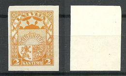 Latvia Lettland 1927 Michel 117 ARCHIVE PROOF Probedruck Essay MNH - Lettonie