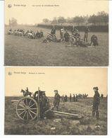ARMEE BELGE - VOOR 1914 - NELS - TWEE KAARTEN  -  DEUX CARTES - Guerre 1914-18