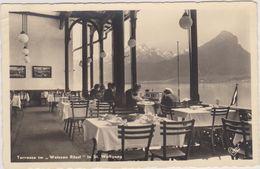 Carte Photo,autriche Et Saint Woffgang,lac Idylique,montagne  Imposante,paysage De Salzkammergut,terrasse Weissen Rossi - Autriche