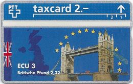 Switzeland - Swisscom - L&G - Ecu Series United Kingdom - 510L - 10.1995, 500ex, Mint - Suiza