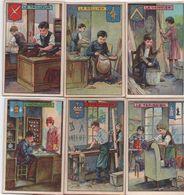 Chromo X6  / Les Vieux Métiers / Menuisier,Tapissier,Horloger, Vannier, Sellier, Tailleur/ Vers 1920-1930  IMA425 - Autres