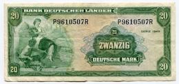 RC 7914 ALLEMAGNE BILLET 20 MARK BANK DEUTSCHER LANDER - [ 7] 1949-… : FRG - Fed. Rep. Of Germany