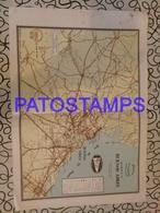 91084 ARGENTINA BUENOS AIRES PLANO 2 DE CAMINOS Y FERROCARRILES 41 X 28 CM PUBLICITY SHELL MAPA NO POSTAL POSTCARD - Other Collections