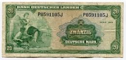RC 7915 ALLEMAGNE BILLET 20 MARK BANK DEUTSCHER LANDER - [ 7] 1949-… : FRG - Fed. Rep. Of Germany