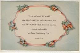 BIBLE VERSES FOR GREETING POSTCARD  SUNSHINE LINE  BIBELSPRUCH - Fêtes - Voeux