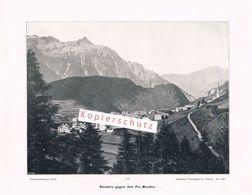 087 Nauders Bergdorf Berge 26 X 20 Cm 1901!! - Photography