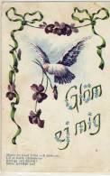 GLÖM ZJ MIG  GREETING CARD SWEDEN 1918 VINTAGE POSTCARD - Fêtes - Voeux