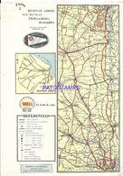 91085 ARGENTINA BS AS SAN NICOLAS PERGAMINO ROSARIO PLANO FERROCARRIL 20 X 28 CM PUBLICITY SHELL MAPA NO POSTAL POSTCARD - Other Collections