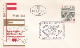 Austria FDC 1961 Trafficministers Meeting In Vienna (SKO15-26) - Trasporti