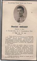 """Image Religieuse """"Souvenez-vous"""" /Daniel Bréant/18 Ans /GODERVILLE/Fécamp/ 1941   IMPI3 - Images Religieuses"""