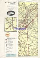 91092 ARGENTINA CORDOBA PLANO FERROCARRIL 20 X 28 CM PUBLICITY SHELL MAPA NO POSTAL POSTCARD - Other Collections