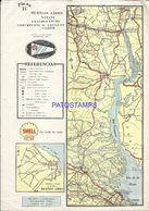 91093 ARGENTINA BS AS ZARATE GUALEGUAYCHU PLANO FERROCARRIL 20 X 28 CM PUBLICITY SHELL MAPA NO POSTCARD - Other Collections