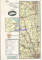91095 ARGENTINA  SAN NICOLAS PERGAMINO ROSARIO PLANO FERROCARRIL  20 X 28 CM PUBLICITY SHELL MAPA NO POSTAL POSTCARD - Other Collections