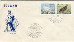 Iceland/Islande/Ijsland/Island FDC 27.I.1965 Bird Ptarmigan - FDC