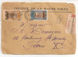 LETTRE AVEC COURRIER DE HAUTE VOLTA / 1925 / CACHET CIRE AU DOS - Upper Volta (1920-1932)