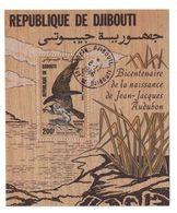 "DJIBOUTI - BLOC FEUILLET N° 4 En BOIS De La POSTE AERIENNE 200F "" BICENTENAIRE JEAN-JACQUES AUDUBON "" BALBUZARD PECHEUR - Djibouti (1977-...)"