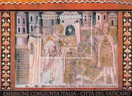 ITALIA  REPUBBLICA   1700° ANNIVERSARIO DELL' EDITTO DI MILANO CONGIUNTA CITTA' DEL VATICANO  NUOVO ANNO 2013 - Blocchi & Foglietti