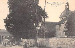 52 - Ambonville - La Grande-Rue Animée - Autres Communes