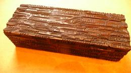Art Nouveau Liberty Cca 1910-1920 - Boîte à Décor D'écorce Stylisée - Boîtes/Coffrets