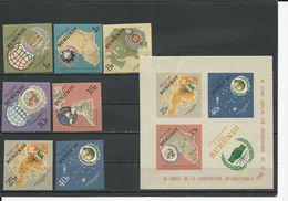 BURUNDI Scott 134-140, 140a Yvert 161A-167A, BF9A (7+bloc) ** Non Denelé Cote 9,00 $ 1965 - 1962-69: Neufs
