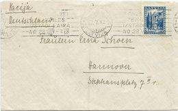 LETTRE 1937 POUR L'ALLEMAGNE - Latvia