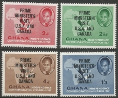 Ghana. 1958 Prime Ministers Visit To The United States And Canada. MH Complete Set. SG 197-200 - Ghana (1957-...)