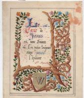 Image Religieuse/ Le Coeur De Jésus / Pensée De St Augustin / Enluminée Et Peinte /Début XXéme   IMPI9 - Images Religieuses