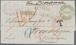 Br Chile: 1877 Destination NORWAY: Entire Letter From Mejillones, Chile (dated '3rd April 1877') To Tro - Chile