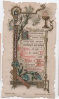 Image Religieuse/Souvenir 1ére Communion/Suzanne HABERT/Pensionnat  Sainte Famille/VERRIERES Le BUISSON/1897   IMPI10 - Images Religieuses