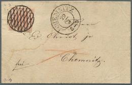 Br Sachsen - Marken Und Briefe: 1850, 3 Pfg. Lebhaftrot, Platte III, Position 8, Allseitig Gut Gerandet - Sachsen