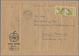 Br Berlin - Postschnelldienst: 1949: 1 DM Rotaufdruck Im Paar Als MeF Auf Postschnellbrief Der 2. Gewic - Berlin (West)