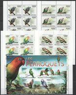 X931 2011 BURUNDI FAUNA BIRDS LES PERROQUETS PARROTS !!! 1KB+10SET MNH - Perroquets & Tropicaux